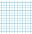 Five millimeters grid cyan colour on white vector image