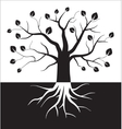 Black and white tree symbol vector image