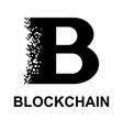 black blockchain symbol vector image