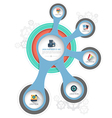 Circle template with flat icons vector image