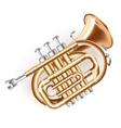 Classical mini trumpet vector image