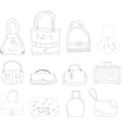 collection of hand drawn l bags vector image