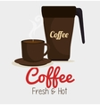 cup coffee and plate graphic vector image