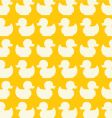 Duck seamless pattern vector image