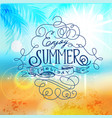 enjoy summer holiday beach poster abstract blur vector image