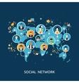 Social media network connection concept vector image