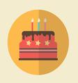 Flat Icon birthday cake icon vector image