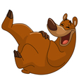 laughing bear vector image