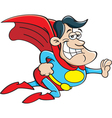 Cartoon flying super hero vector image