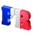 internet top-level domain of france vector image vector image