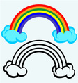 Color Rainbow With Clouds vector image vector image