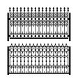 Old Style Decorative Iron Fences Set vector image