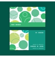 abstract green circles horizontal stripe vector image