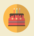 Flat Icon birthday cake icon vector image