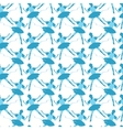 Seamless pattern of blue ballet dancers vector image