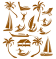 Summer silhouettes vacation vector image
