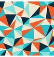 triangle seamless pattern blue orange vector image