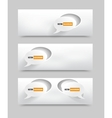 With Paper Speech banners vector image