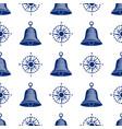 ship helm seamless pattern marine boat wheel vector image
