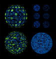 abstract unusual net with light effects design vector image