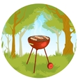 Barbecue grill eps10 vector image