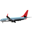 passenger plane vector image