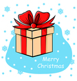 gift snow vector image vector image