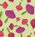 Beet seamless pattern Burgundy background beet vector image