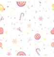 candy pattern seamless pattern with small triangl vector image