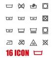 grey washing signs set vector image