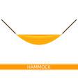 hammock icon vector image