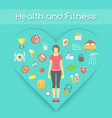 Woman Health and Fitness Infographics vector image