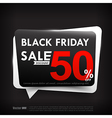 Black friday web tag banner promotion sale vector image