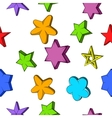 Star pattern cartoon style vector image