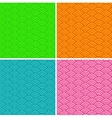 Set of colorful abstract seamless patterns vector image vector image