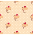 Seamless pattern or texture with cupcakes and dots vector image vector image
