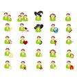 set of icons avatars vector image