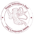 Stamp retro with Cupid vector image vector image