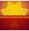 Golden ethnic indian background vector image