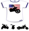 American Flag T-shirt vector image