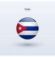 Cuba round flag vector image