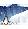 Family of amusing penguins vector image