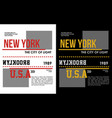 new york t-shirt graphic vector image