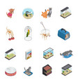 pet shop icons set vector image