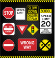 Road Sign Pack vector image