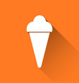 simple ice cream icon holiday symbol vector image