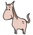 small horse vector image