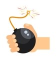 bomb in hand vector image