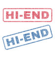 hi-end textile stamps vector image
