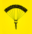 parachuting silhouette sport extreme vector image